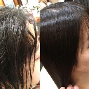 【ex 02 :くせ毛レベル4】くせ毛の悩みNo.1。なんとかしたい顔まわりのうねり