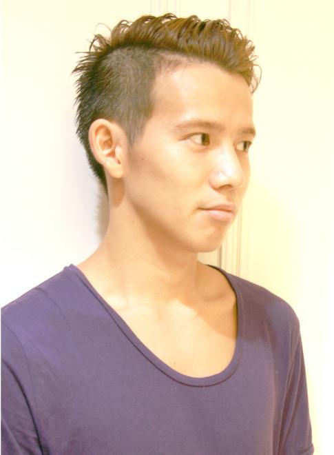 ツーブロック&オールバック(髪型メンズ)