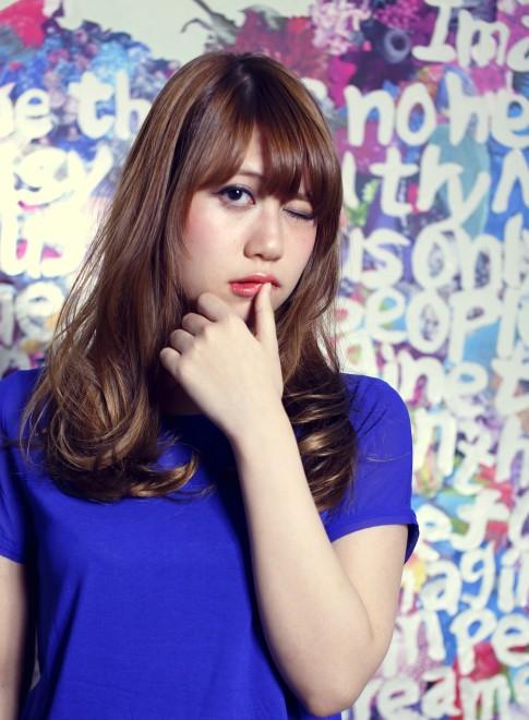 【DECO】flowerニュアンスカール(髪型ロング)