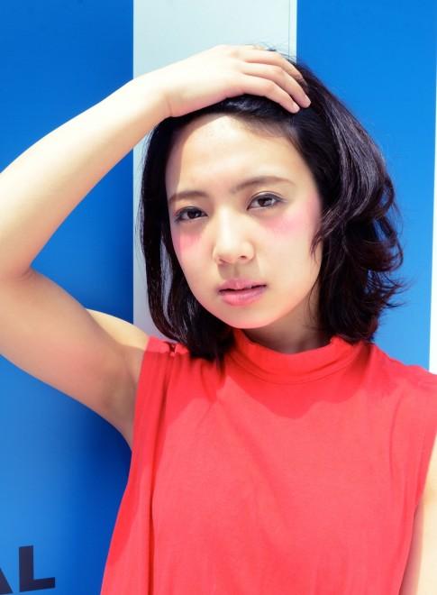 【DECO】黒髪サマーサイドパートボブ(髪型ボブ)