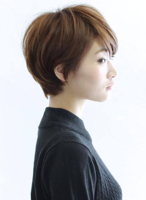 大人シルエットショート(髪型ショートヘア)