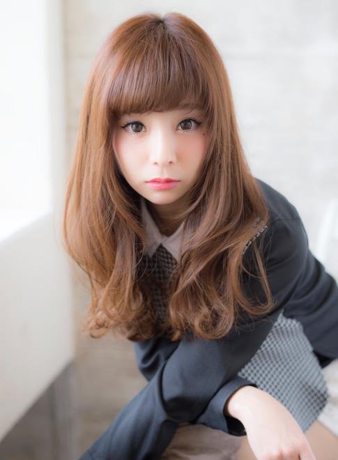 ゆる巻きロングヘアー(髪型ロング)