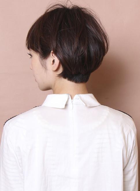 大人のフレンチモードマッシュ(髪型ショートヘア)