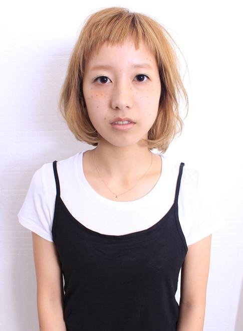 大人ゆるふわザクザク前髪ミディアム(髪型ミディアム)