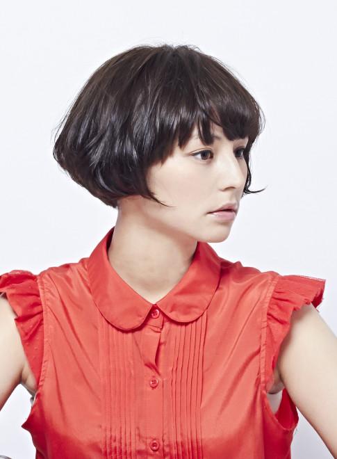 エアリーな柔らかい大人ショートボブ(髪型ショートヘア)