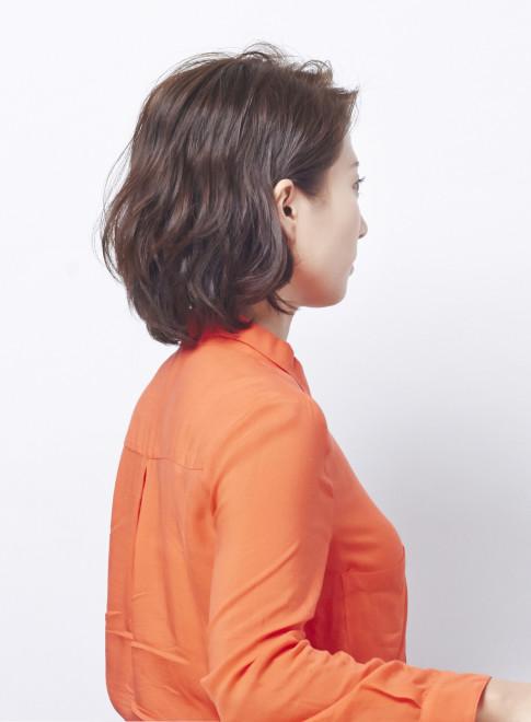 大人のエレガントボブスタイル(髪型ボブ)