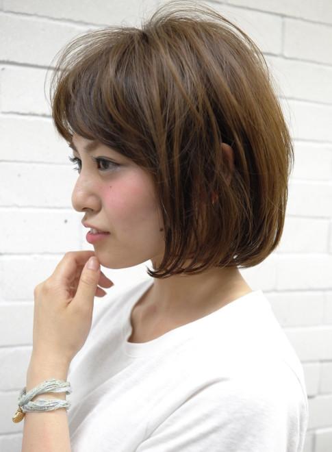 大人の柔らかい質感ボブスタイル(髪型ボブ)
