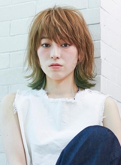 大人カジュアルミディアム(髪型ミディアム)