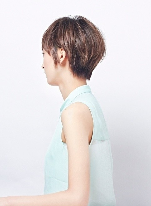 大人のナチュラルショートボブ(髪型ショートヘア)