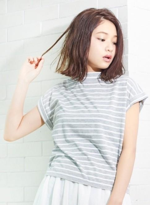 大人のカジュアルパーマボブ(髪型ミディアム)