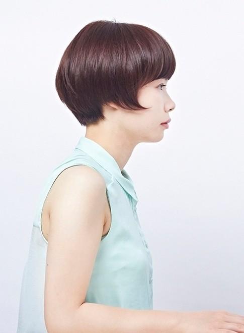 丸みのあるショートボブ(髪型ショートヘア)