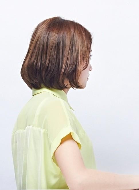 艶のあるワンカールボブ大人スタイル(髪型ボブ)