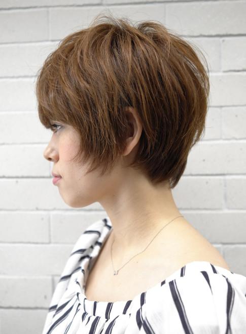 大人のショートボブ(髪型ショートヘア)