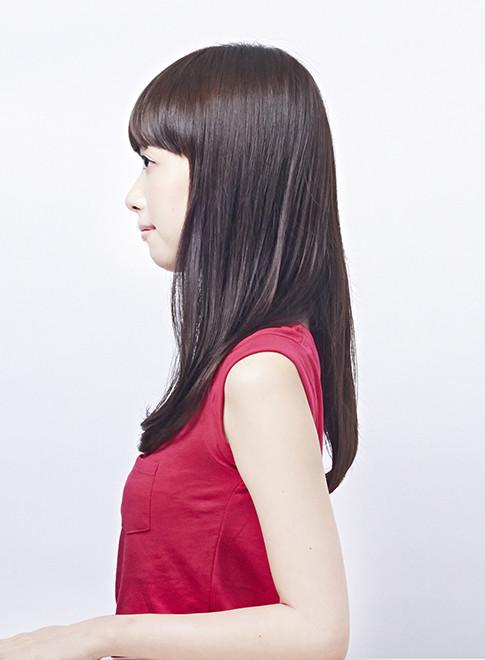 ワンカールの艶のある大人スタイル(髪型ロング)