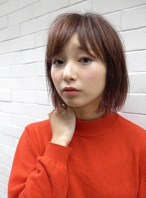 カジュアルなニュアンスボブ(髪型ボブ)