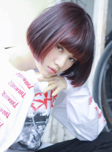 チェリーピンク×ショートボブ☆(髪型ボブ)