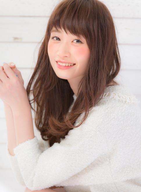 大人かわいいモテ前髪!!(髪型ロング)