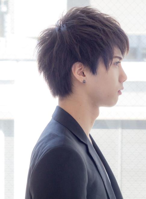 ひし形マッシュショート(髪型メンズ)