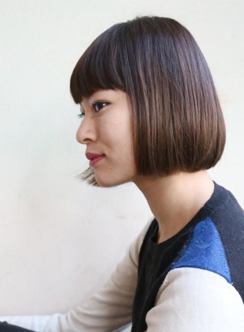 マチルダボブ×ハイライト(髪型ボブ)