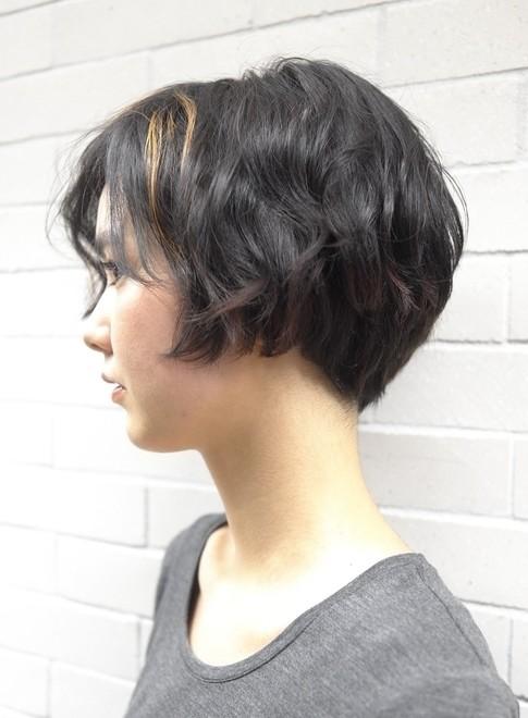 お洒落な大人のショートボブ(髪型ショートヘア)