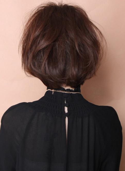 大人のこなれショートボブ(髪型ショートヘア)