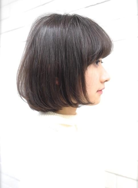 大人の世代に人気・柔らかい美髪の大人ボブ(髪型ボブ)