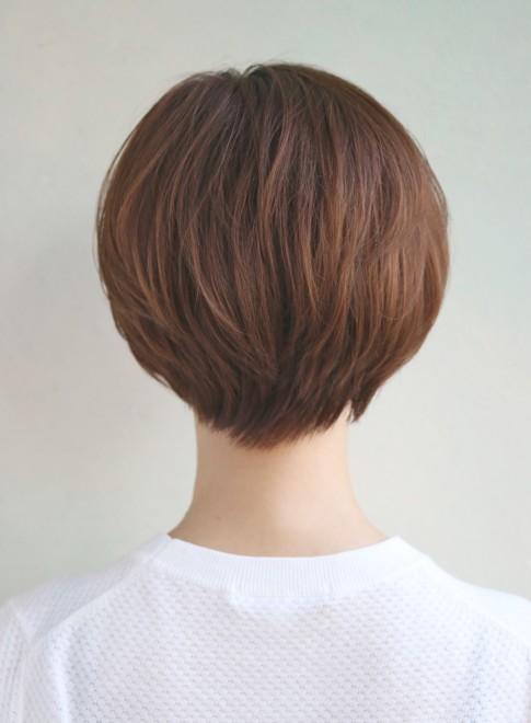 前髪なし×大人ショートボブ(髪型ショートヘア)