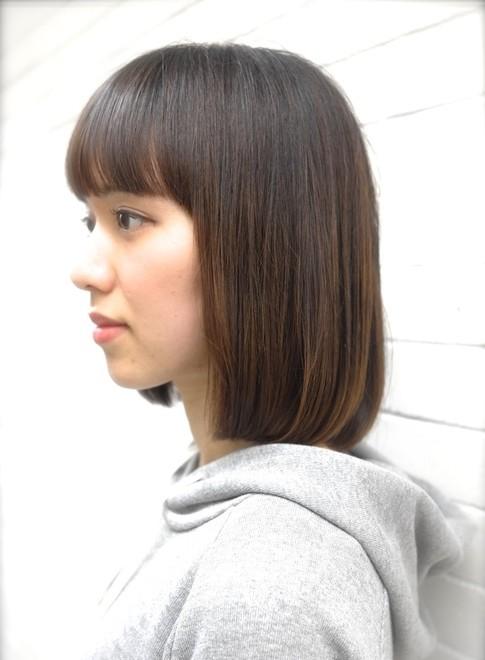 縮毛矯正ストレートで美髪にサラサラ!(髪型ボブ)