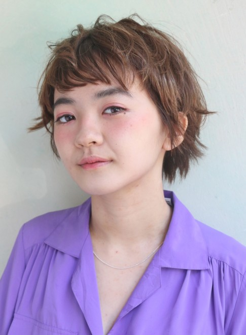 外ハネショート*(髪型ショートヘア)