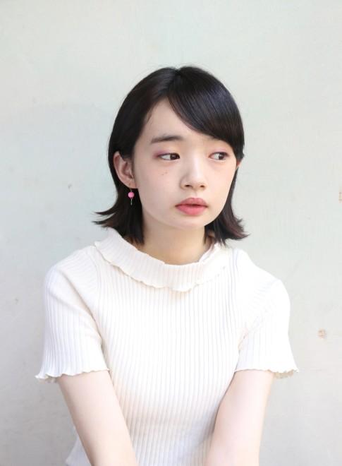 ツヤ*外ハネボブ×黒髪(髪型ボブ)