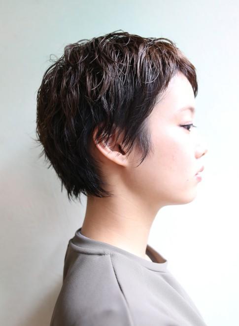 ベリーショート×ランダムカール(髪型ショートヘア)