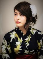 浴衣アレンジ☆ミディアム(髪型ミディアム)