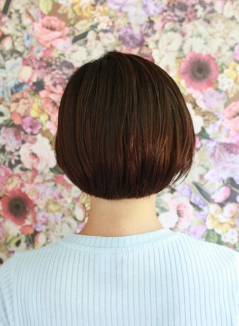 ショートボブ×ストレート(髪型ショートヘア)