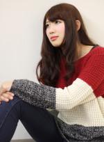 ウルフロングレイヤーウェーブ(髪型ロング)