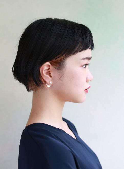ミニマムハイライトボブ×ショートバング(髪型ボブ)
