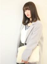 毛先ワンカール☆セミロング(髪型セミロング)