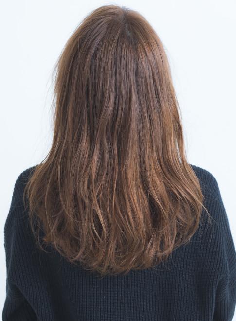 ふんわりカールのレイヤーロング(髪型ロング)
