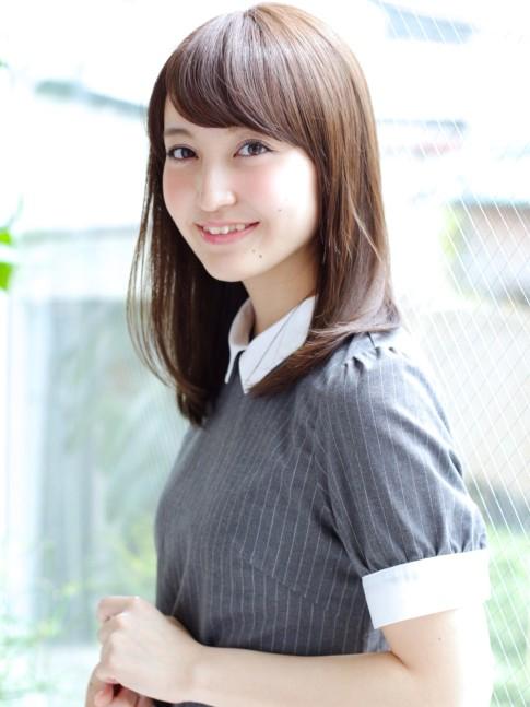 【大人かわいい】ストレートヘア☆(髪型ミディアム)