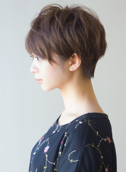 美シルエットな大人ショート(髪型ショートヘア)
