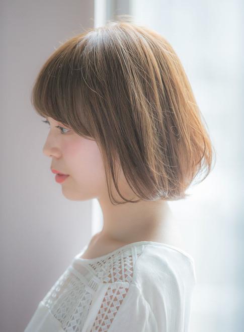 透明感カラーのナチュラルボブ(髪型ボブ)