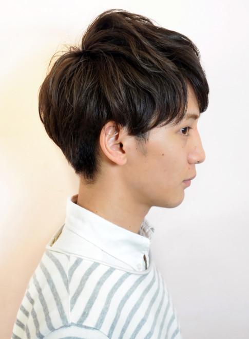 ニュアンスパーマ ショート(髪型メンズ)