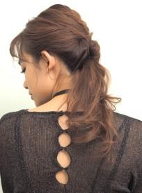 大人カジュアル*ローポニー(髪型ロング)