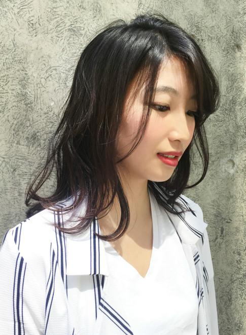 大人エアリーミディ(髪型ミディアム)