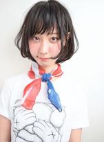 黒髪・美髪・小顔☆外国人風ナチュラルボブ