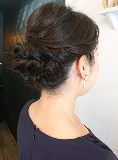 ゆるふわアレンジスタイル(髪型ミディアム)