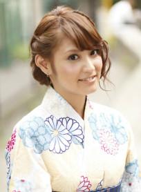 【浴衣ヘアアレンジ】花火大会にぴったり♪(髪型ミディアム)