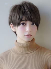 小顔ショートショートレイヤー(髪型ショートヘア)