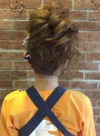 お祭りヘア(髪型ロング)