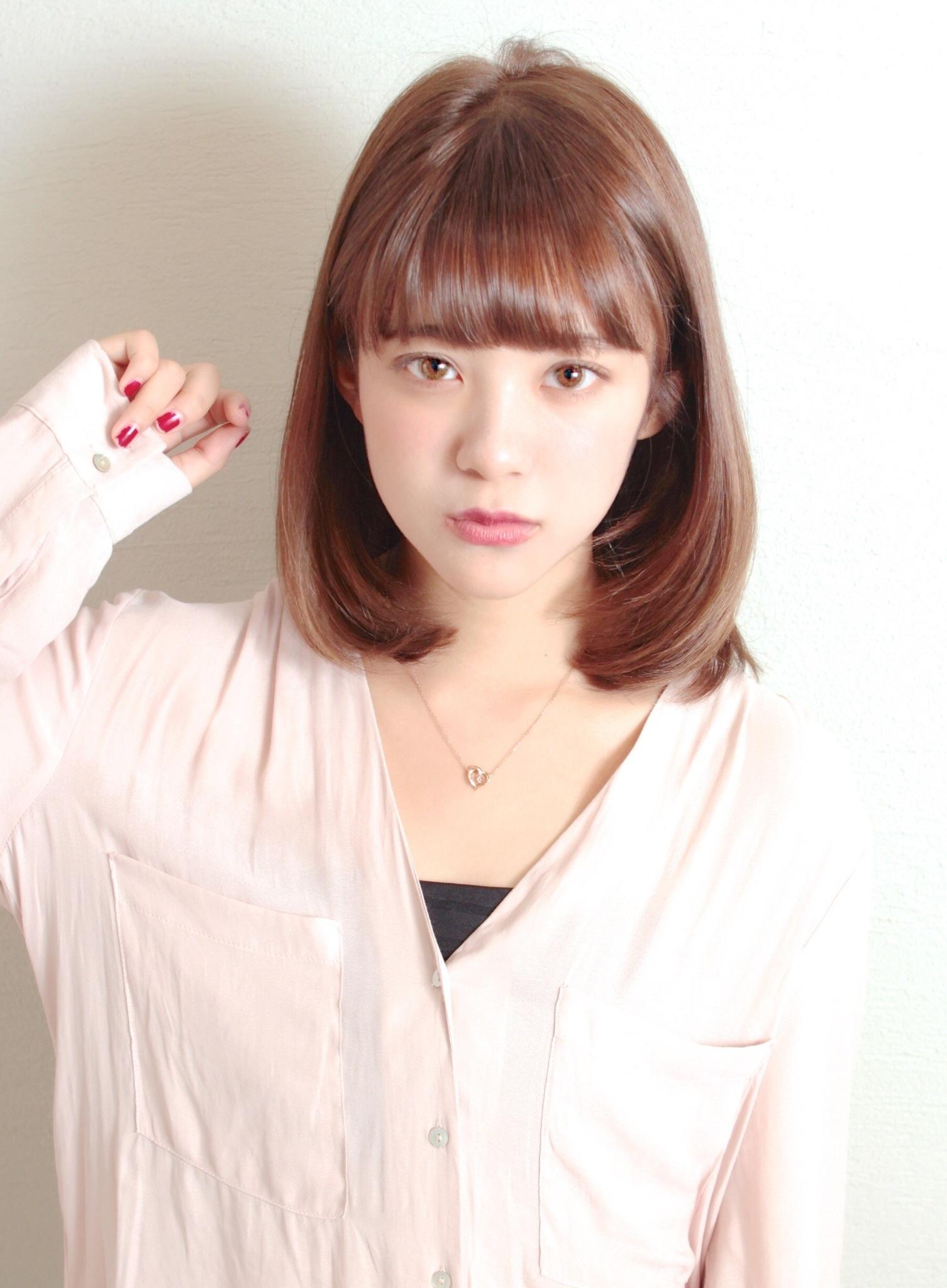 『東省吾』の吉岡里帆さん風ミディアムボブ