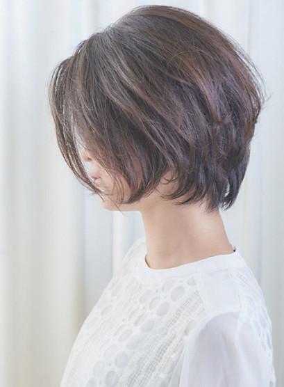 40代50代◎お手入れ簡単ショートボブ(髪型ショートヘア)